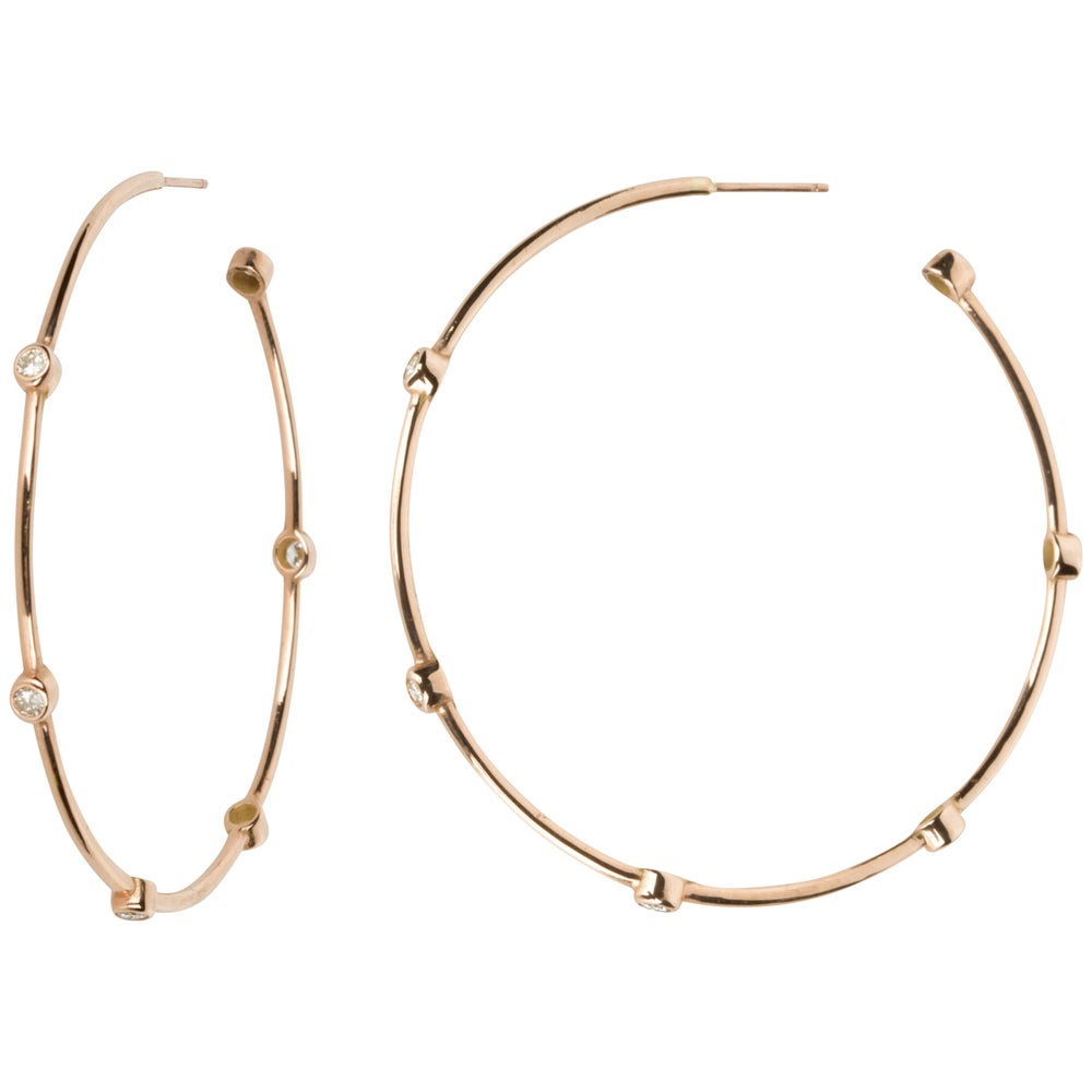 Image of Selene Diamond Hoops