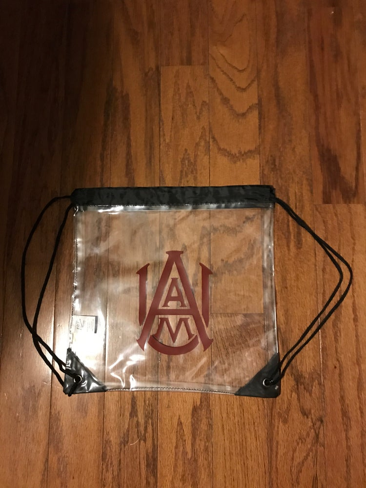 Image of Clear Drawstring Stadium Bags