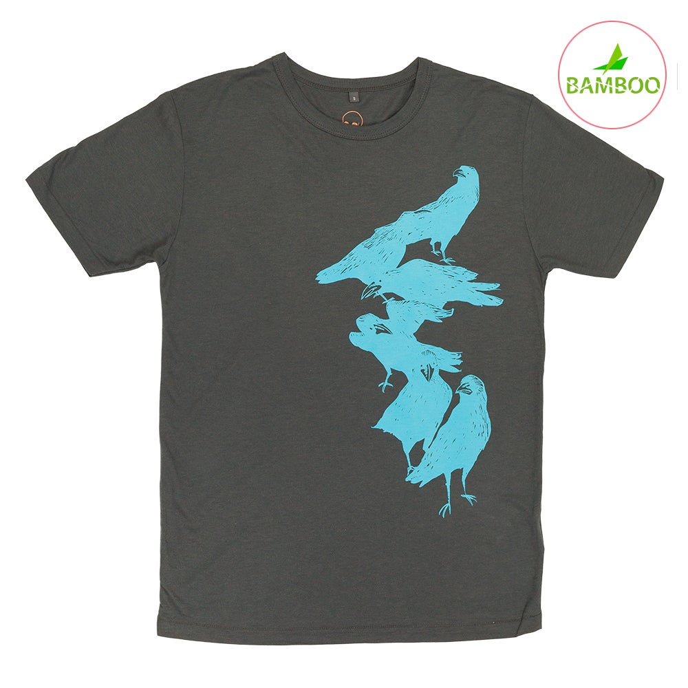 Image of Crow Charcoal Boys T-shirt (Organic Bamboo)