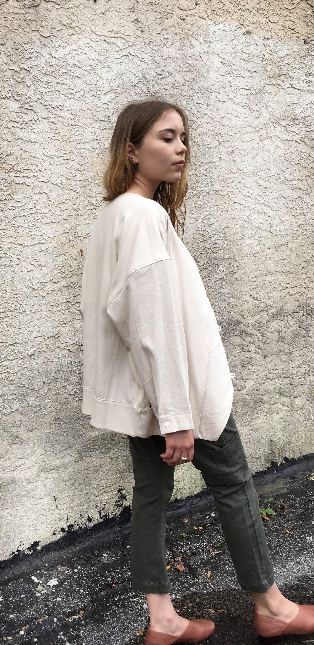 Image of Black Crane Cotton Jacket