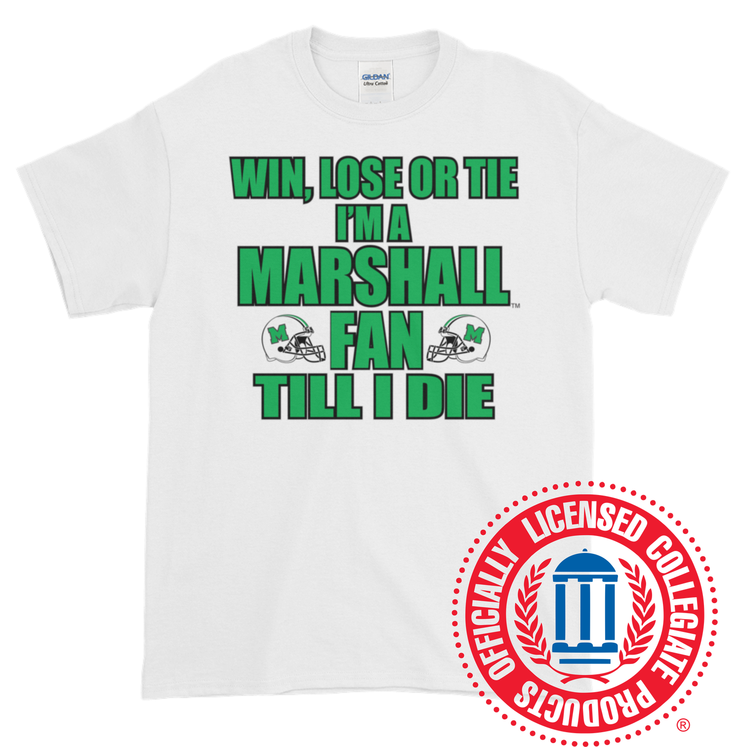 Image of Win, Lose, or Tie Marshall University™ T-Shirt (Multiple Colors Available)