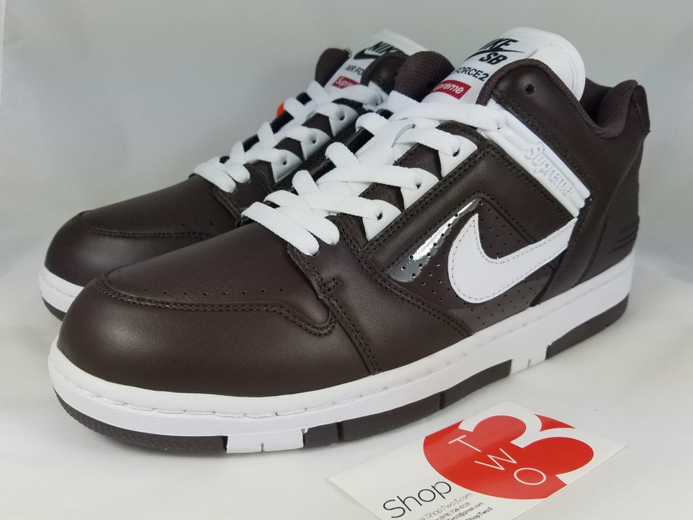 "Image of Supreme Nike SB AF1 Low ""Baroque Brown"""