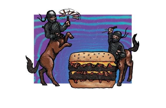 Image of Ninja Centaurs Hunt The Big Big Double Bacon Cheeseburger