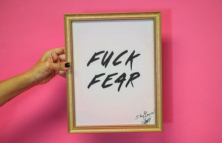 Image of Fuck Fear Print
