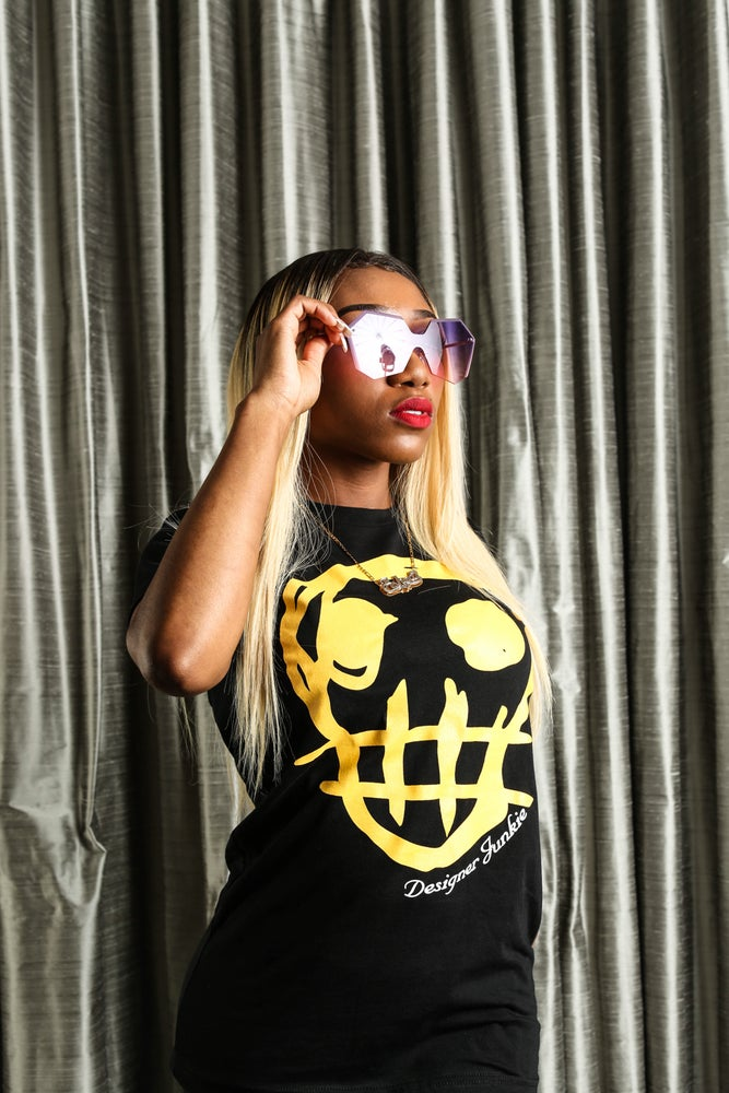 Image of Designer Junkie Apparel Signature Tee ( Yellow )
