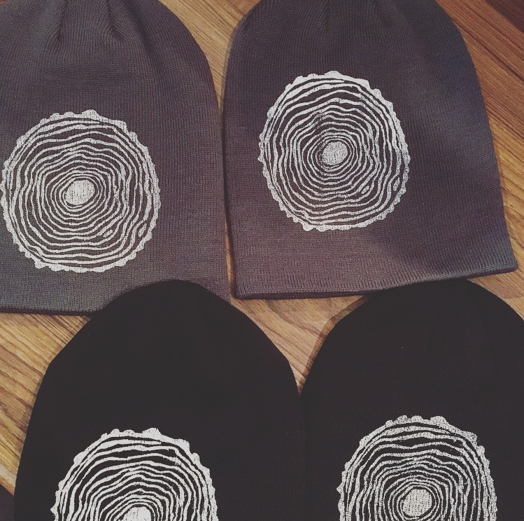 Image of Wood screenprinted slouchy beanie