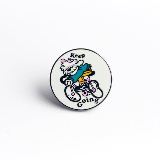 Image of Keep Going pin (hard enamel)