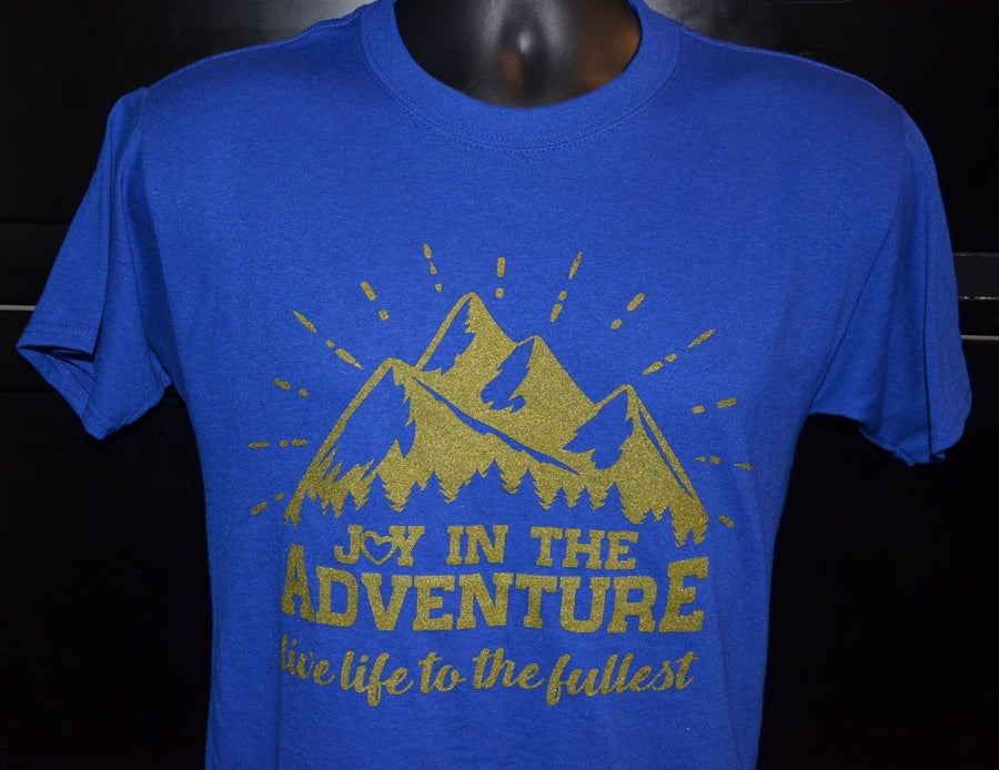 Image of Joy In The Adventure T-Shirt ROYAL BLUE