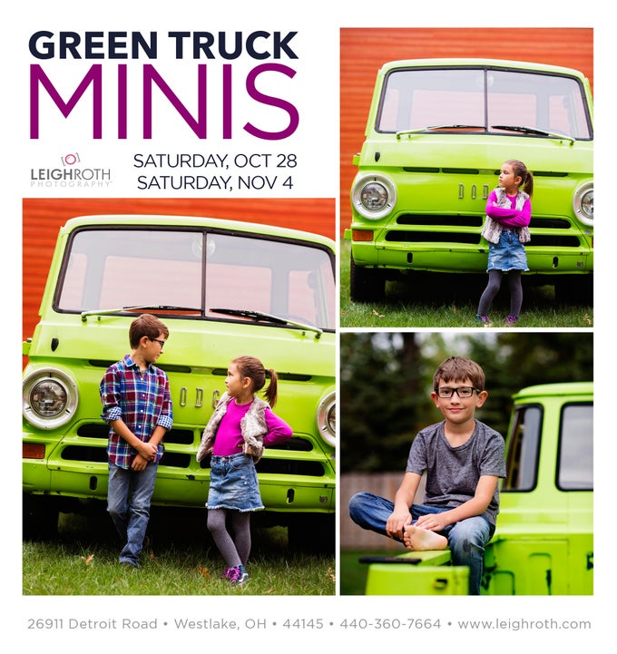 "Image of Green Truck ""Charlie"" Mini Sessions"
