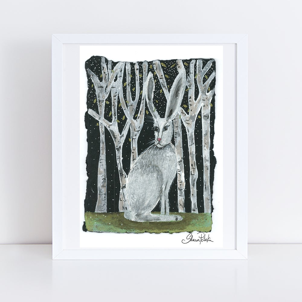 Image of Birch Rabbit PRINT