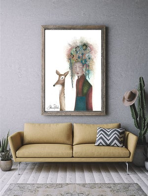 Image of Modern Geisha and her Deer ( Special Release)