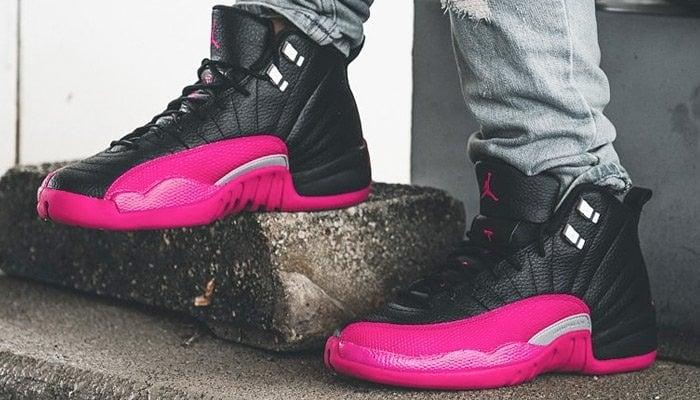 Image of Air Jordan 12 Black/Deadly Pink
