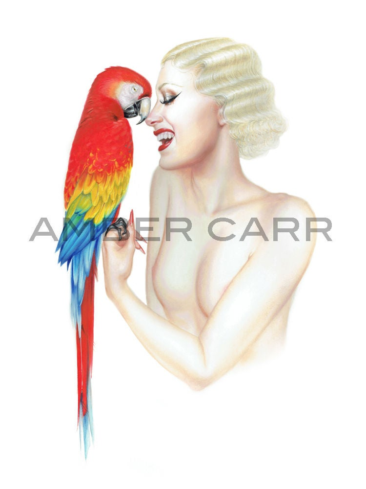 "Image of ""Macaw"" 11"" x 17"" Print"