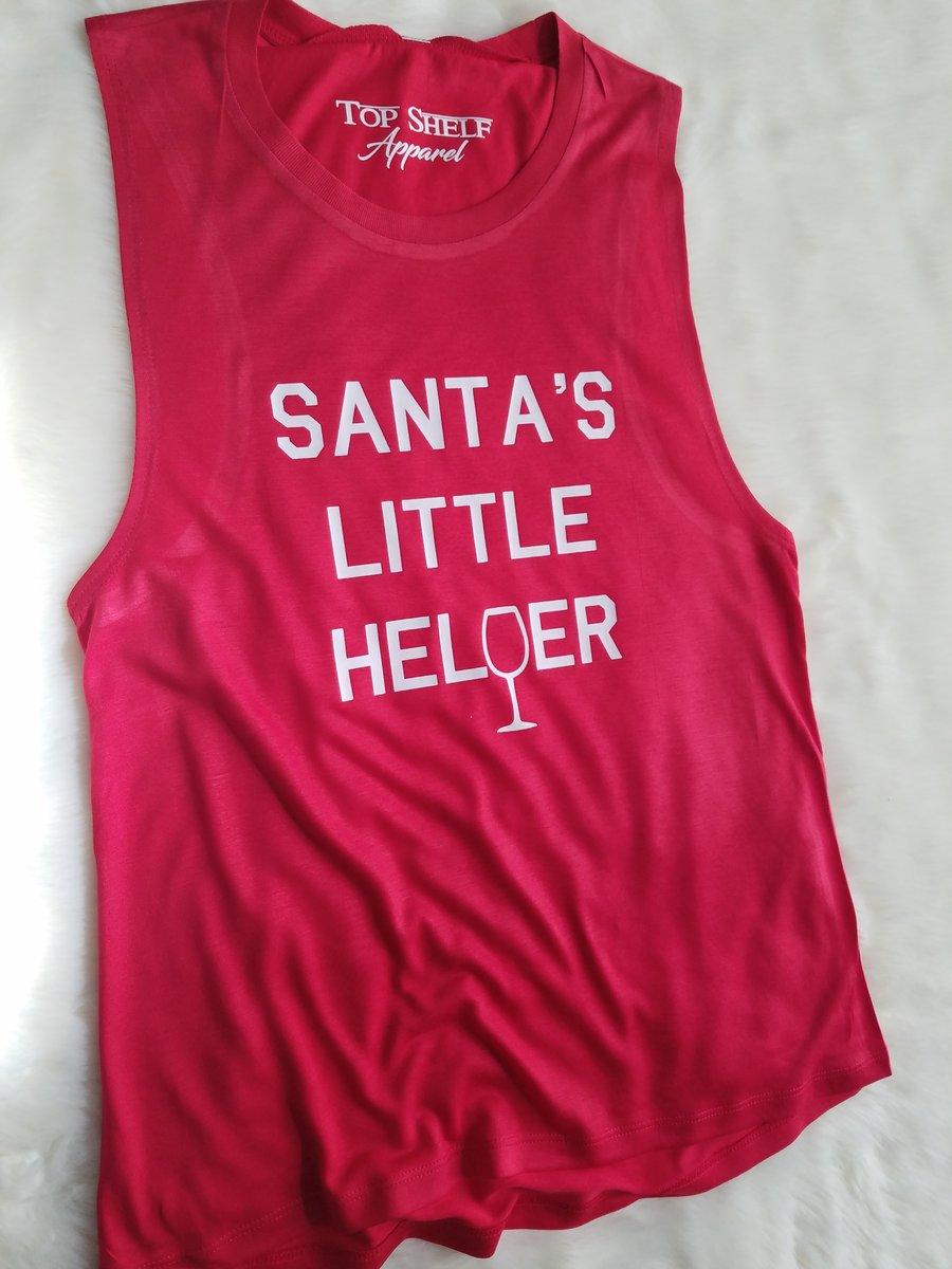 Image of Santa's Little Helper | poly muscle tank