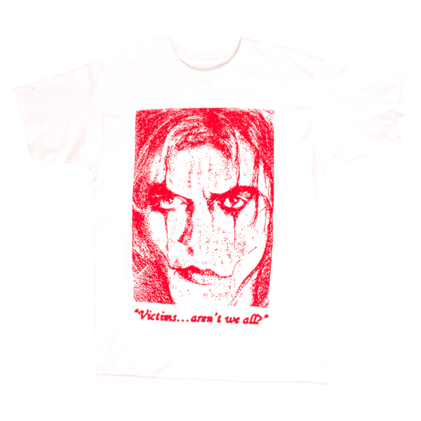 Image of PLEASURES - 'VICTIM'S' T-SHIRT (WHITE)