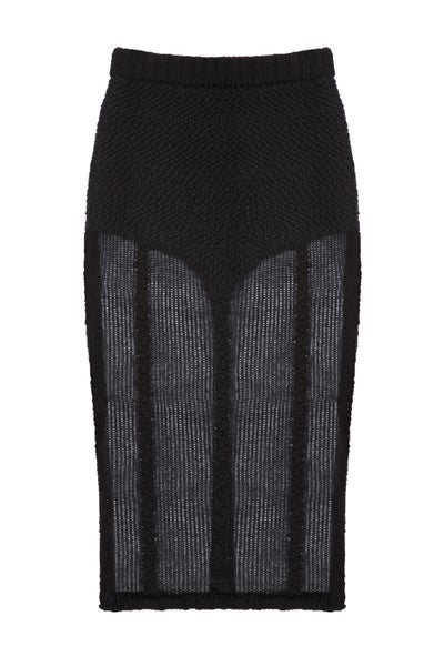 Image of Hand Knit Lingerie Skirt
