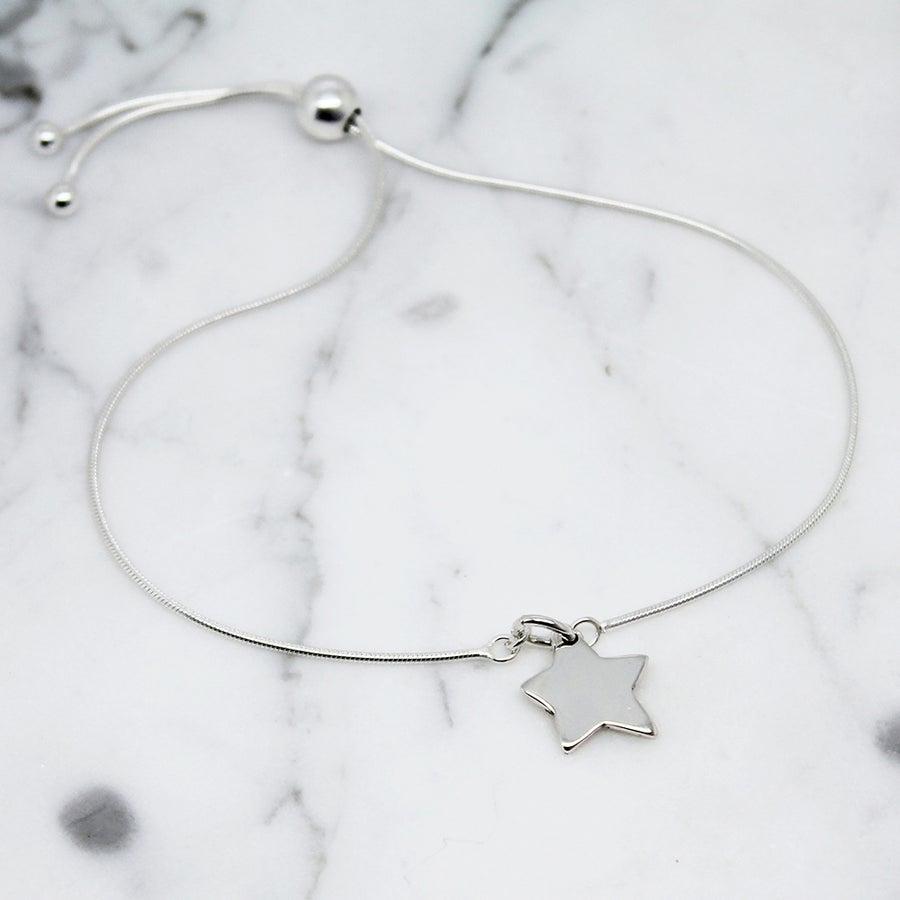 Image of Little Star Sterling Silver Slider Bracelet