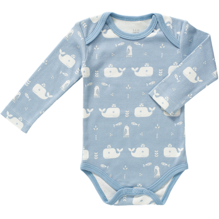 Image of Blue Elephant Organic Long Sleeve Baby Body