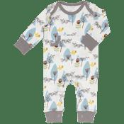 Image of Organic Blue Fox Footless Baby Pyjamas
