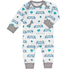 Organic Blue Fox Footless Baby Pyjamas