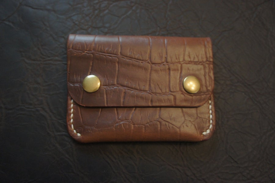 Image of Crock print Horween Chromexcel snap wallet