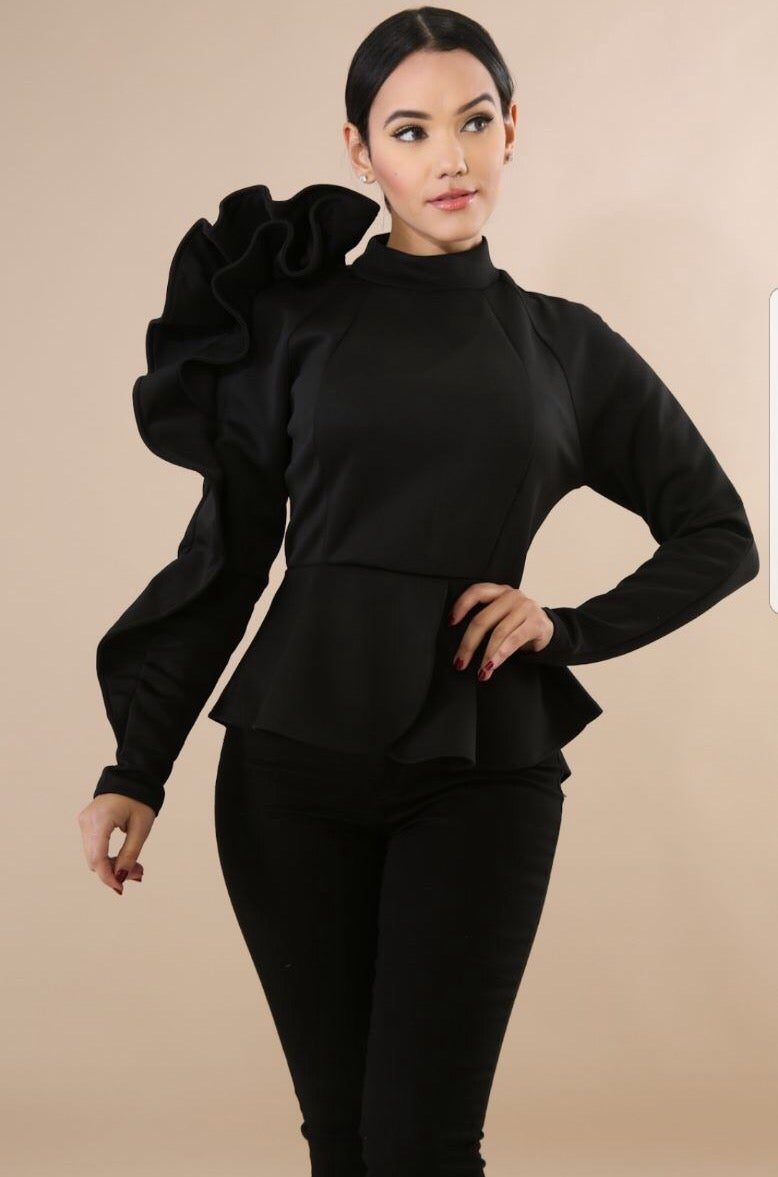 Image of New peplum top