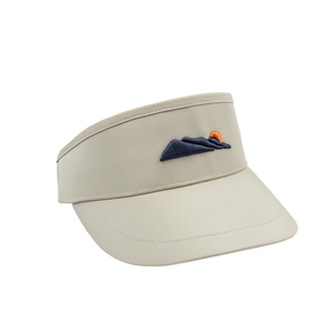 Image of High Crown Logo Visor - Stone
