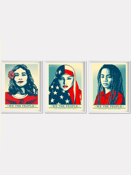Image of SPECIAL PRICE - Shepard Fairey (Obey Giant) - We The People - Complete Set