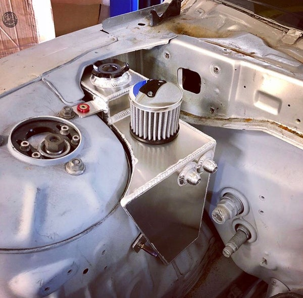 Image of 240sx oil catch can/ coolant overflow combo