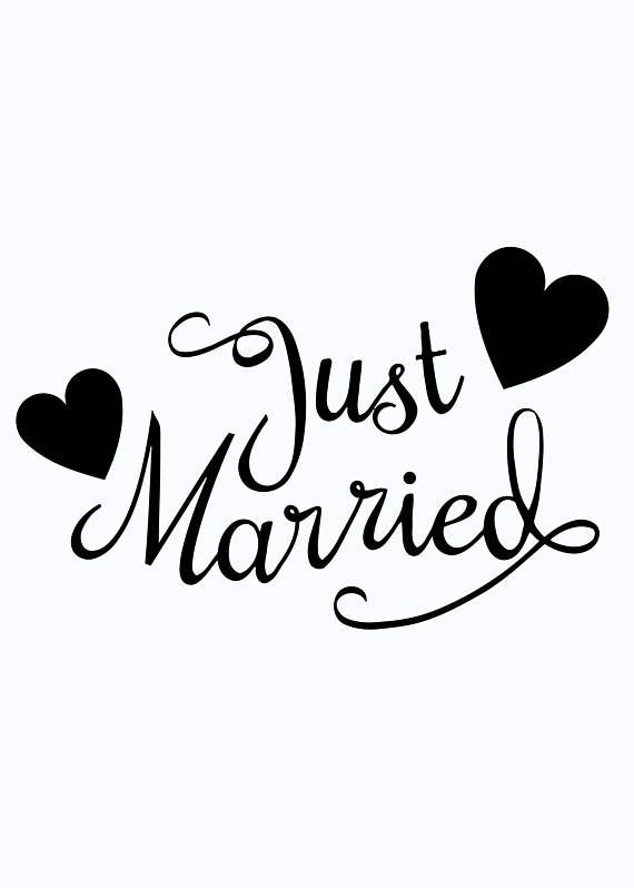 Wedding Stickers | Just Married Car Window Decal Just Married Decal Car Decals