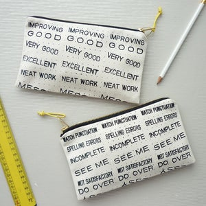 Image of Teachers' feedback pencil case