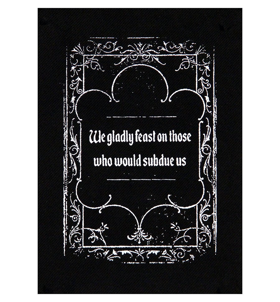 Image of Addams Family Credo Patch/ Back Patch