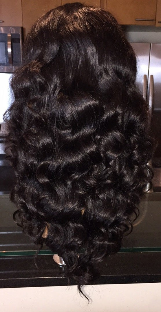 "Image of Peruvian Body Wave 18"" Custom Lace Frontal Wig!"
