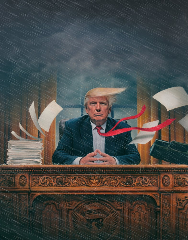 "Image of 'The Chaos President' 11"" X 14"" Archival Print"
