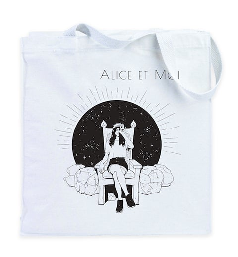 Image of Tote-bag Alice et Moi - Blanc