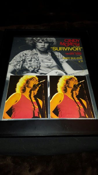 Image of Cindy Bullens Survivor Rare Original Promo Poster Ad Framed!