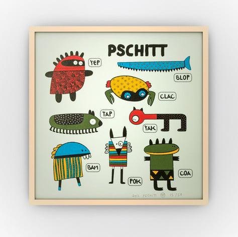 Image of AFFICHE /// Modèle PSCHITT