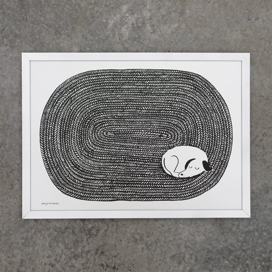 Image of Print | Dog Tired