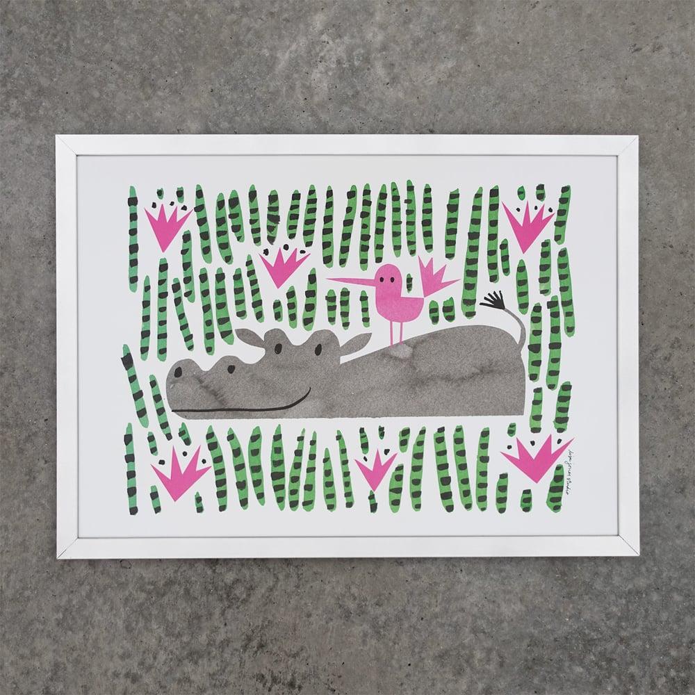 Image of Print | Happy Hippo