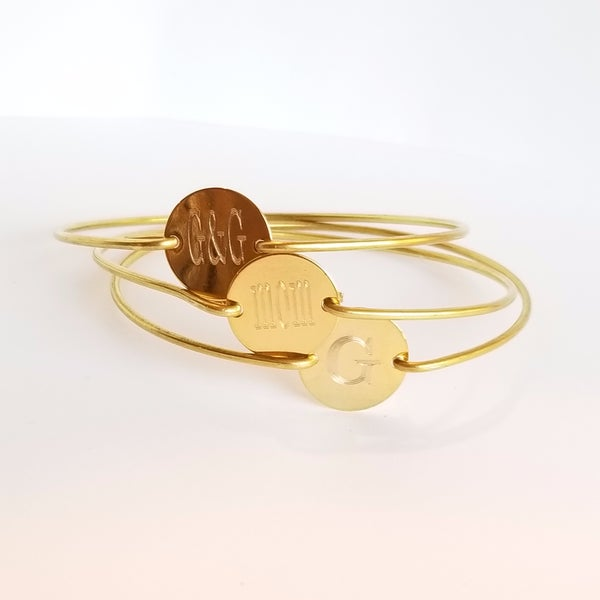 Image of Gold Circle Bangle