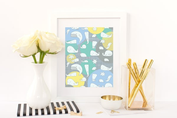 Image of Whales Print