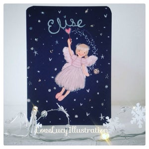 Image of Personalised Winter Fairy Card