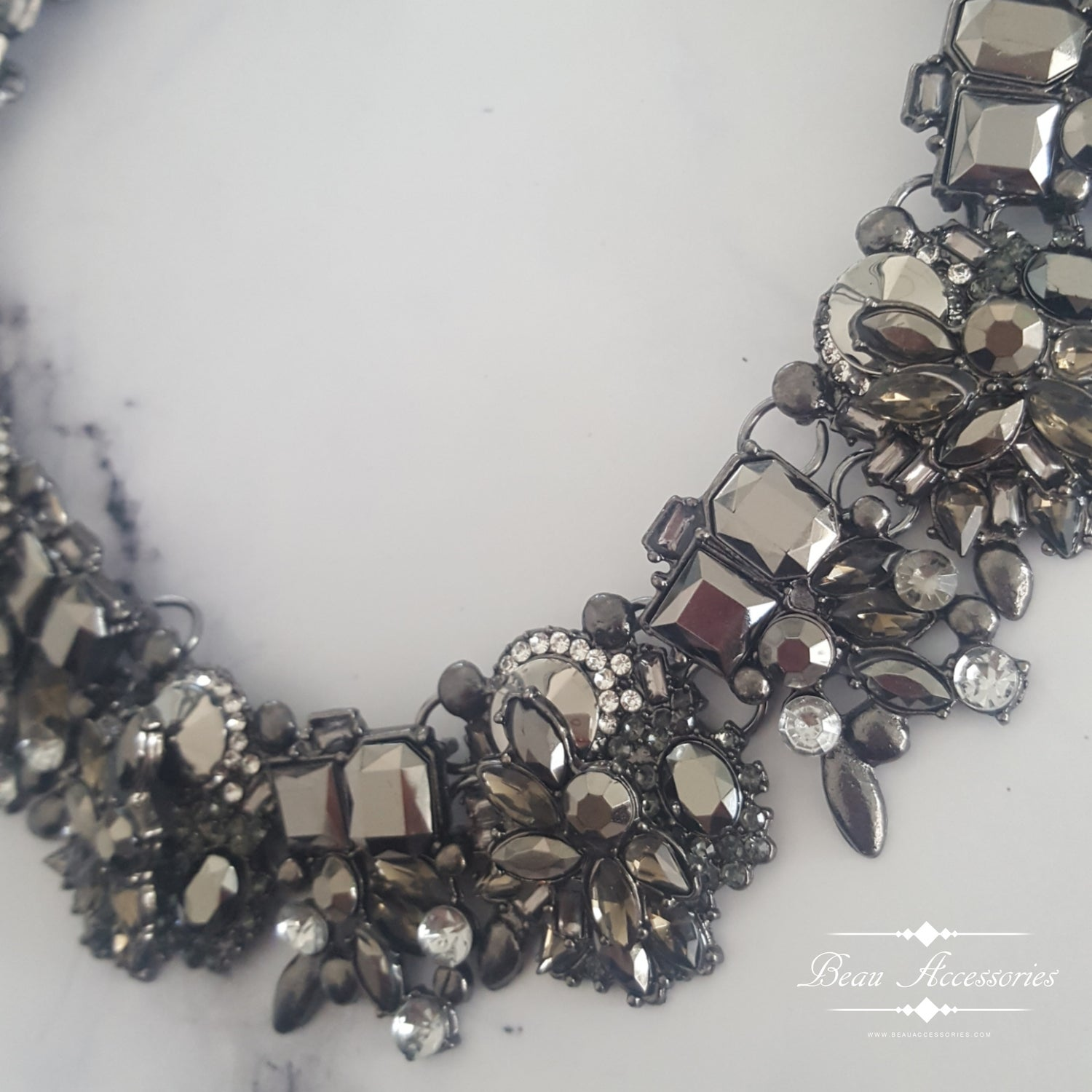 Image of All Black Velencia Necklace