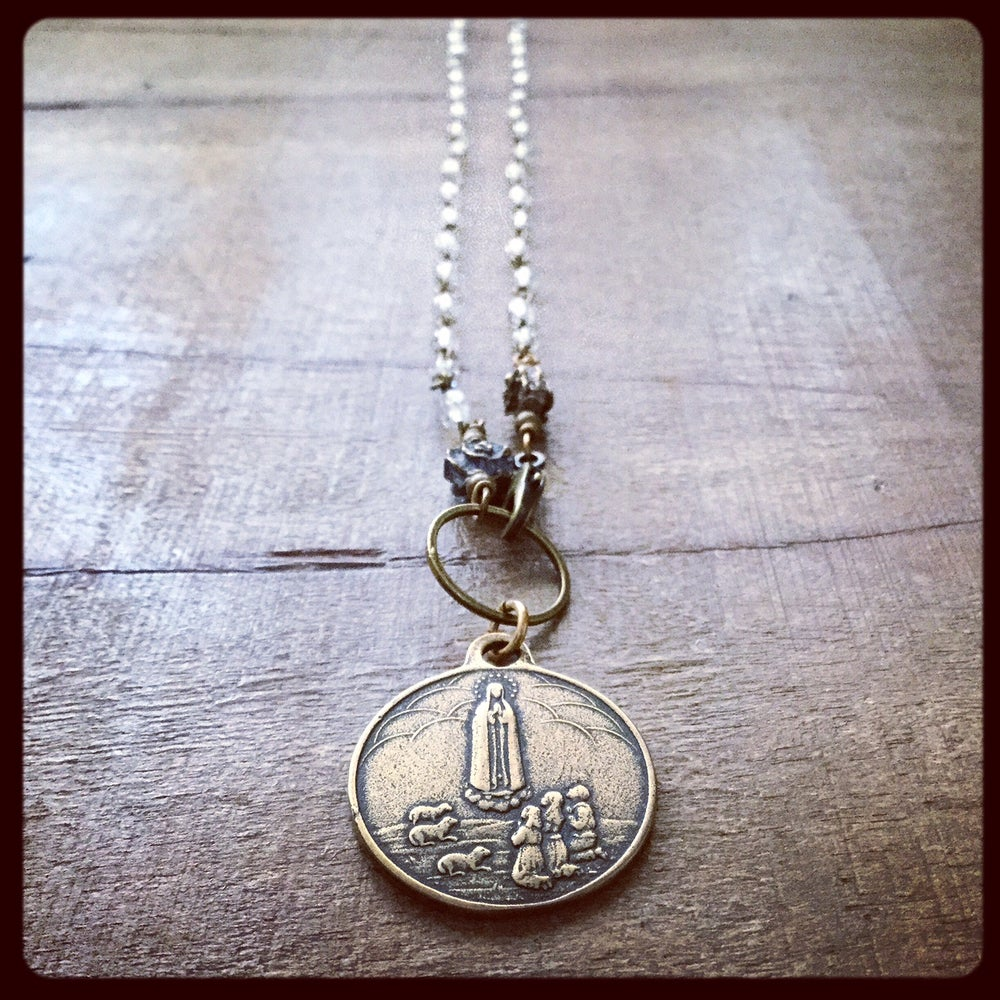 Image of OUR LADY OF FATIMA PEACE NECKLACE