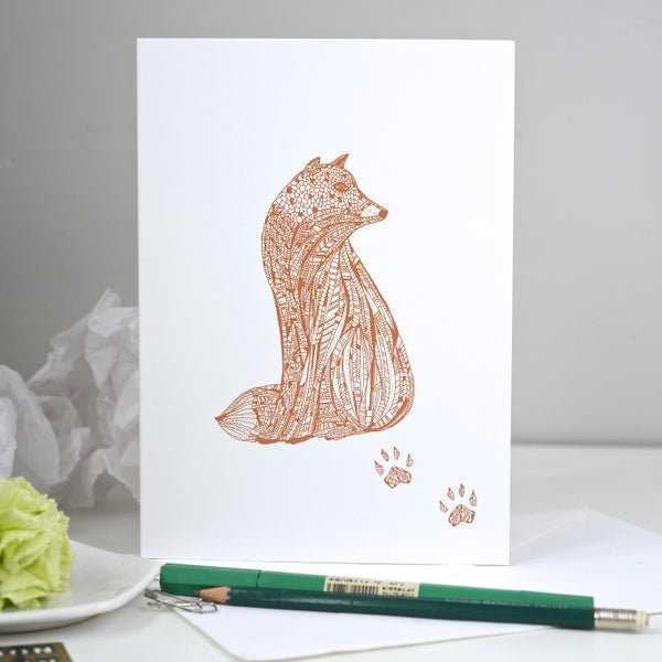 Image of *Fox* Greeting card A5