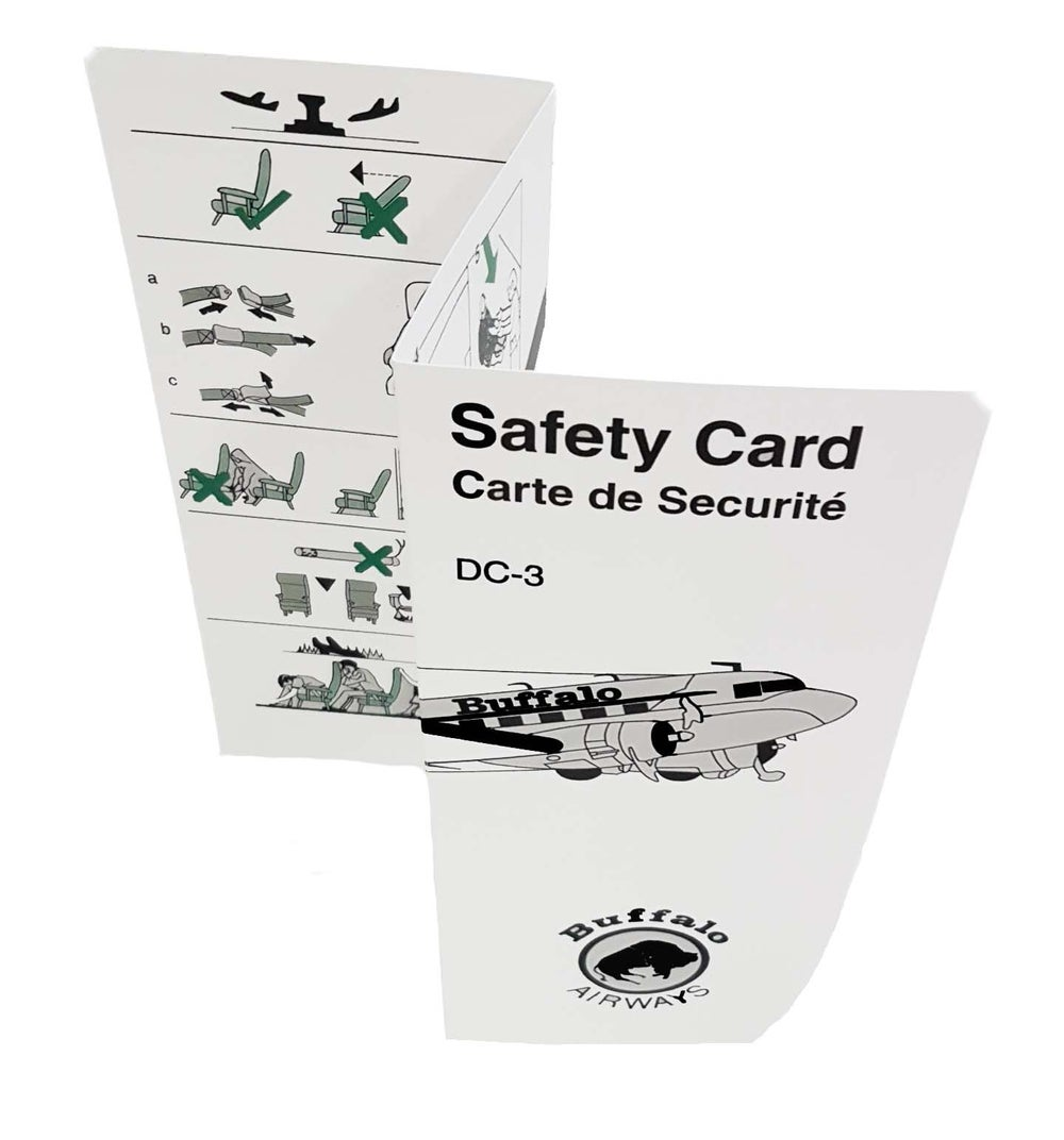 Image of DC-3 Safety Card