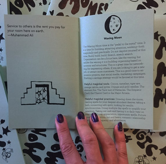 Image of Intuition + Money Moon Magic Zine pack