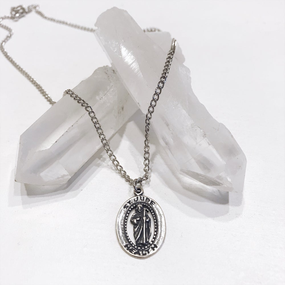 Image of Saint Jude Silver Pendant
