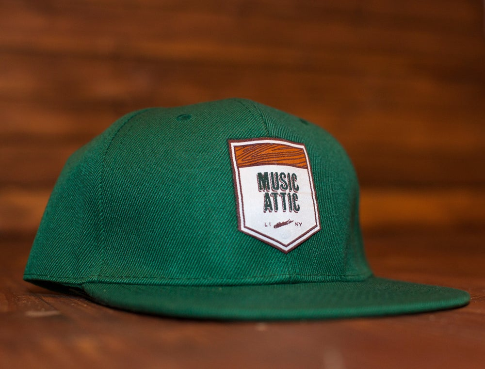 Image of Music Attic Green Snapback