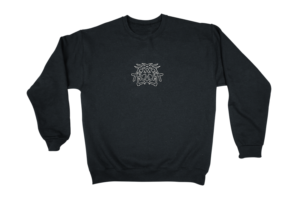 Image of Criss Cross - Embroidered Crewneck